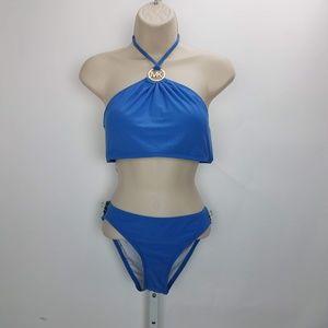 Michael Kors Bikini Set Sz M Blue G3